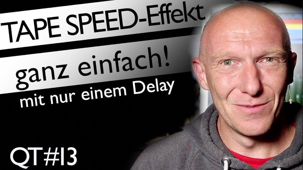 Quicktip: Tape Speed Effekt mit eine Delay erstellen