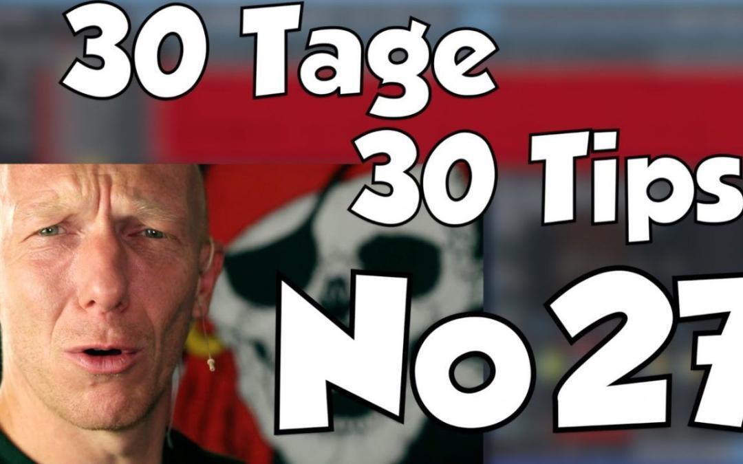 #27 | 30 Tage, 30 Tips – Standard Bassdrum-EQ-Kurve