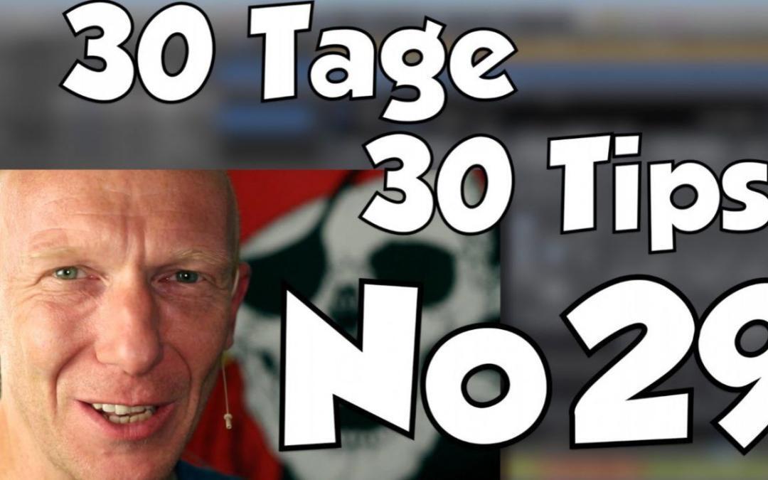 #29 | 30 Tage, 30 Tips – Der Hauptgewinn – ein ganz besonderer EQ
