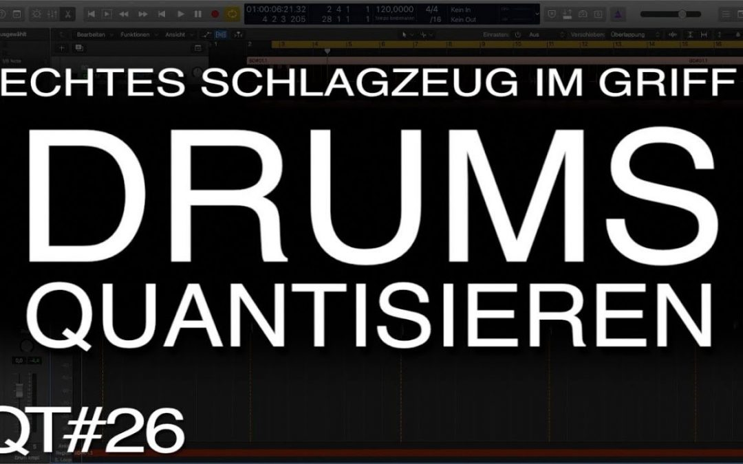 Schlagzeug im Griff: Mehrspuraufnahmen quantisieren