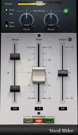 Der Vocal-Rider hilft mit seinem automatisierbaren Fader ganz einfach eine individuelle Fader-Automation zu erstellen.