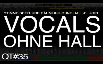 Vocals räumlich ohne Hall