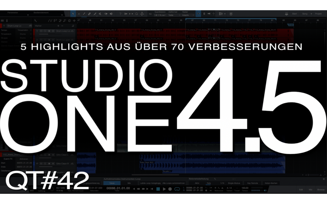 Meine 5 Update-Highlights in Presonus Studio One 4.5