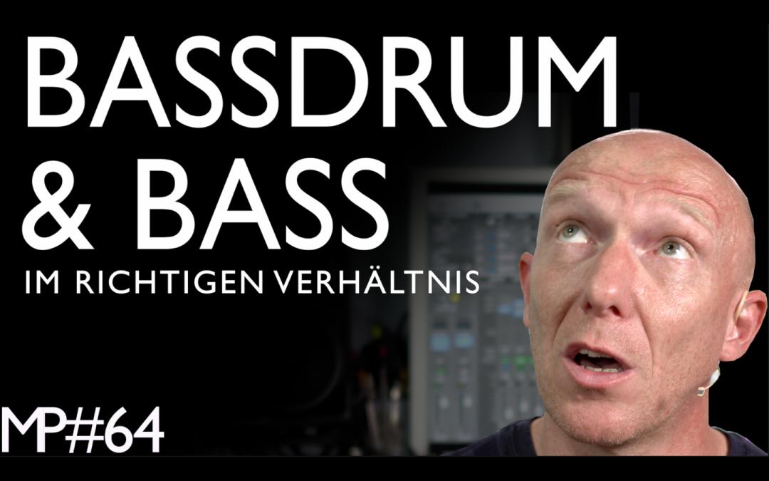 Bassdrum und Bass pegeln