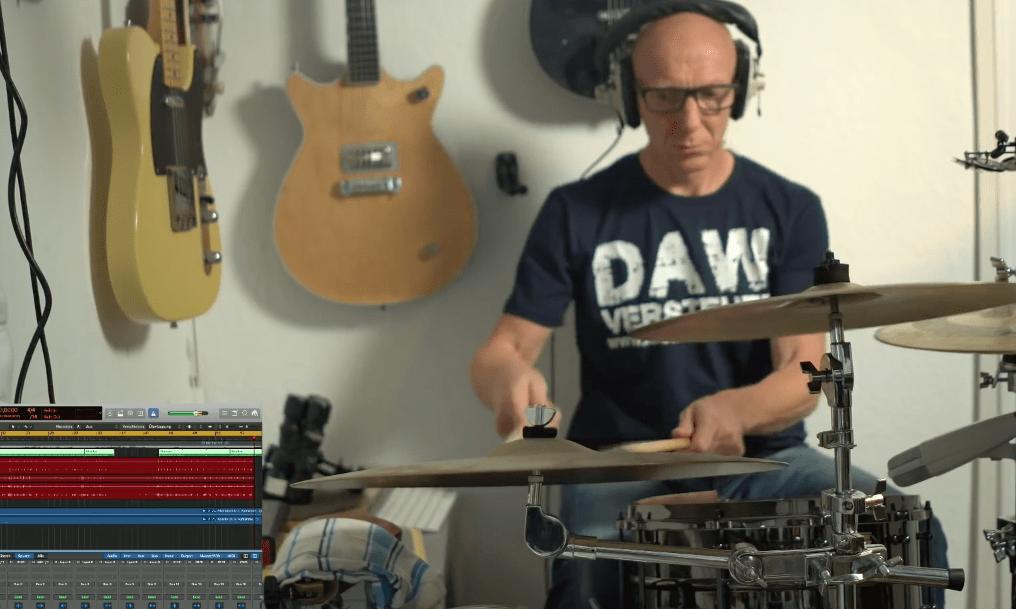 Schlagzeug aufnehmen in der 2 Stunden LIVE-Challenge