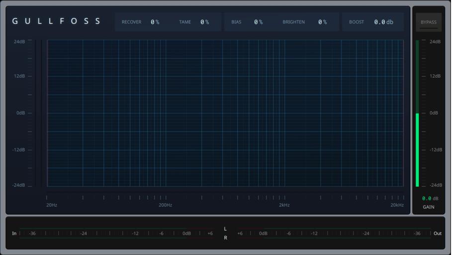 Das Interface vom Gullfoss wirkt klar und aufgeräumt