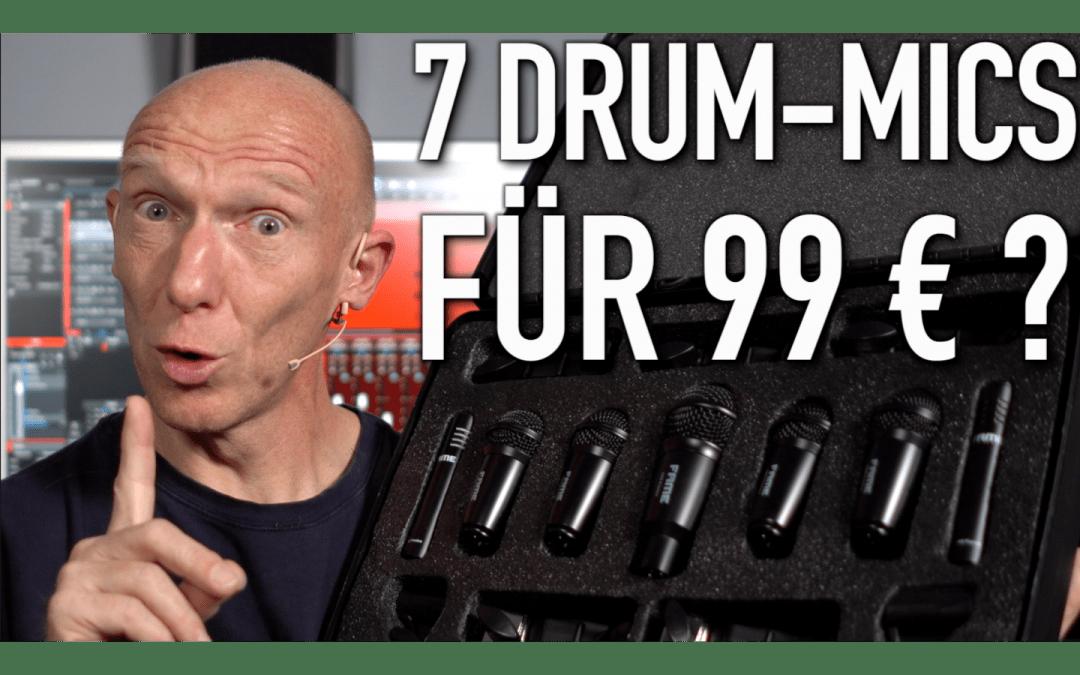 Hot oder China-Schrott? Komplettes Mikrofon-Set für Schlagzeug für 99 Euro