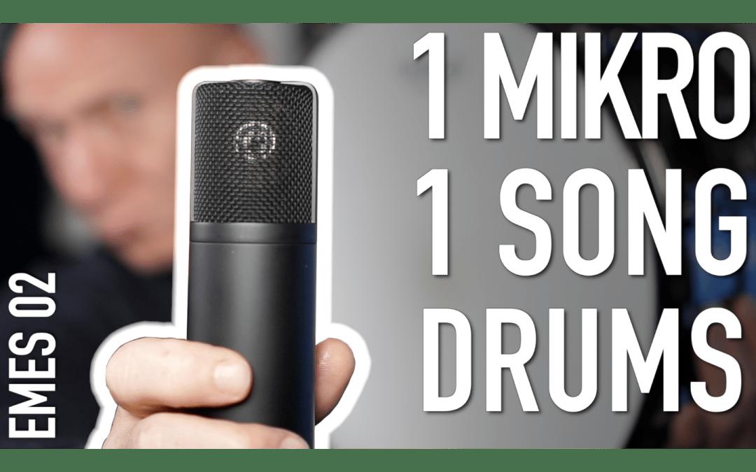 Ein Mikro, ein Song: Schlagzeug aufnehmen und bearbeiten