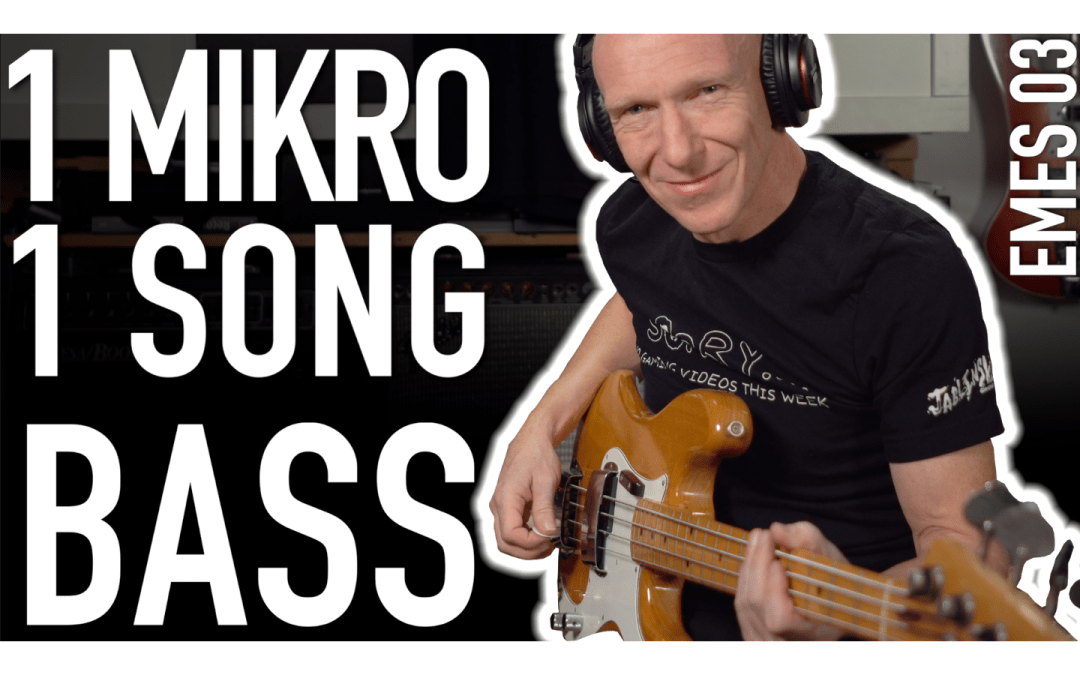 Ein Mikro, ein Song: E-Bass aufnehmen und bearbeiten