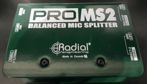 Radial Pro MS2 Mikrofon-Splitter