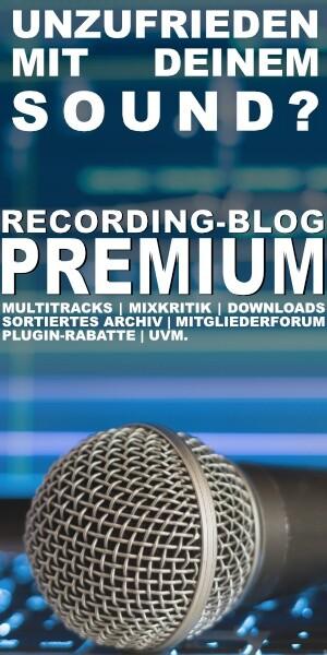 SCHON PREMIUM-MITGLIED IM RECORDING-BLOG?