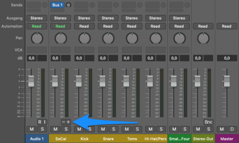 Einzelausgänge im Logic Drumer hinzufügen