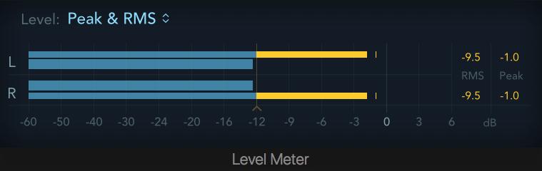 Level Meter in Logic Pro X