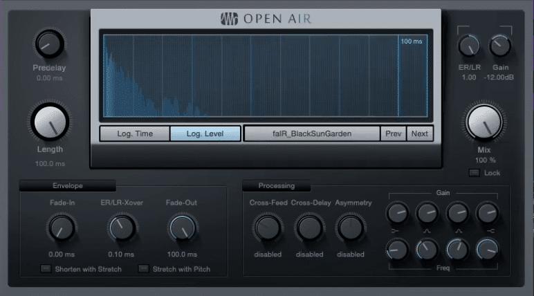 IR-Plugin Open Air aus Studio One mit geladener IR