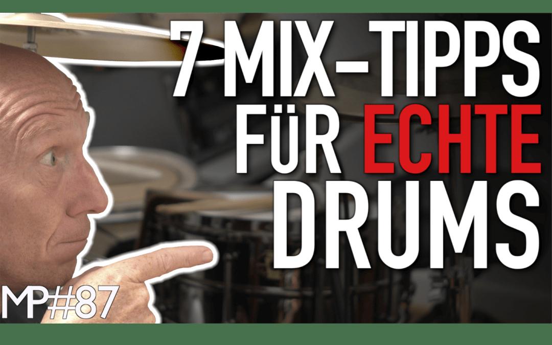 Mix-Grundlagen: Diese 7 Dinge helfen Dir beim Abmischen von echtem Schlagzeug