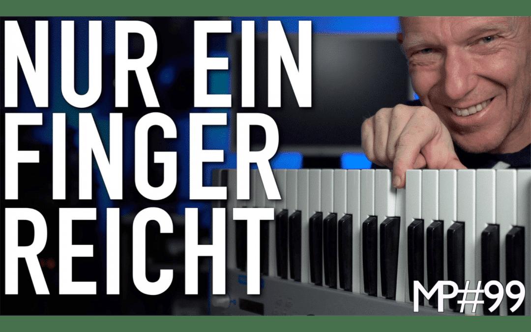 MIDI Keyboard spielen mit einem Finger