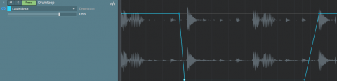 Lautstärke Automation laut und leise