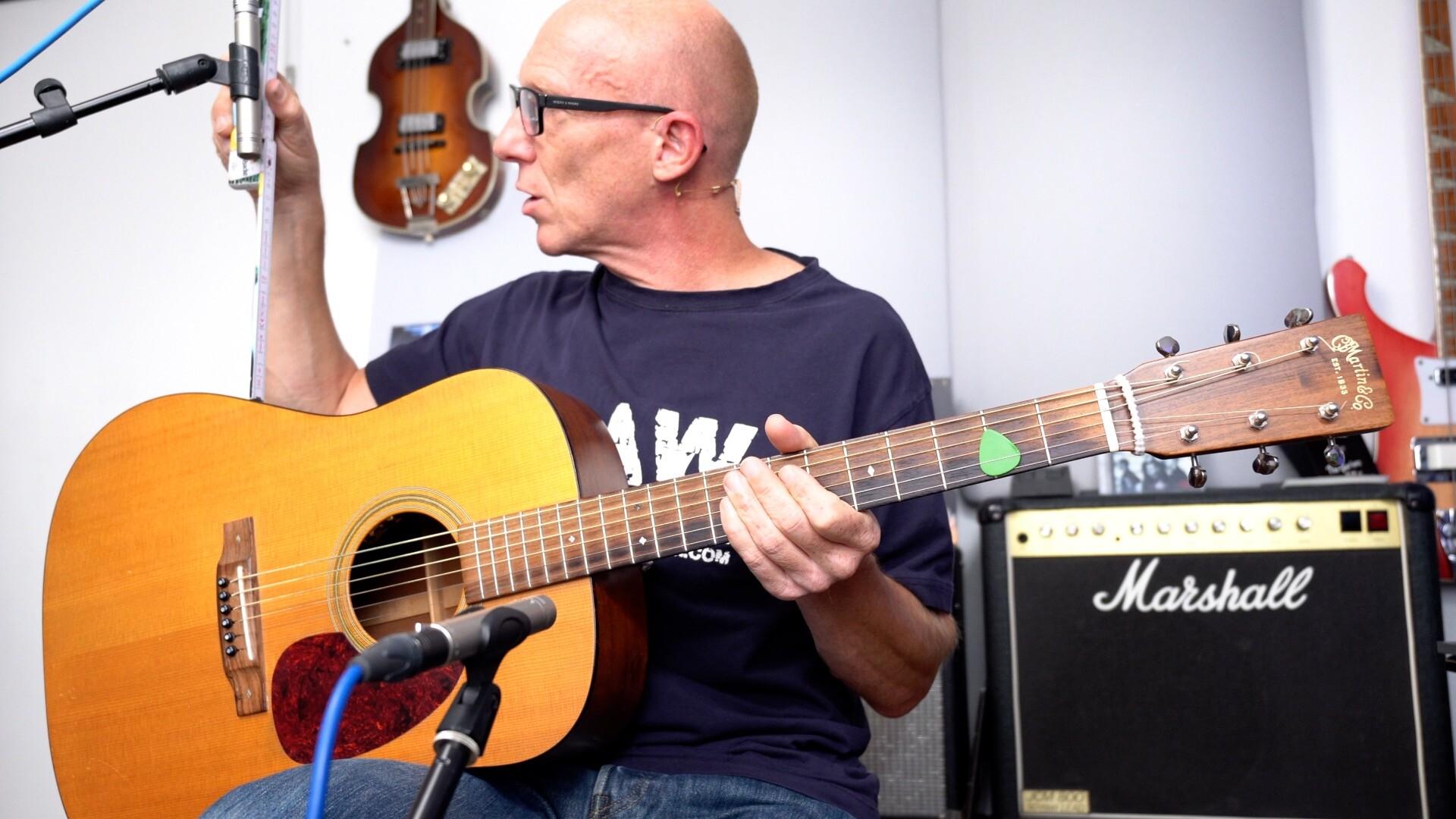 Akustik-Gitarre aufnehmen - Mikro 20 cm entfernt aufstellen