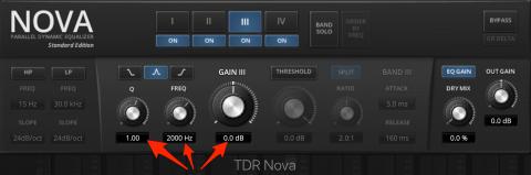 TDR Nova Frequenz bei 2 khz einstellen